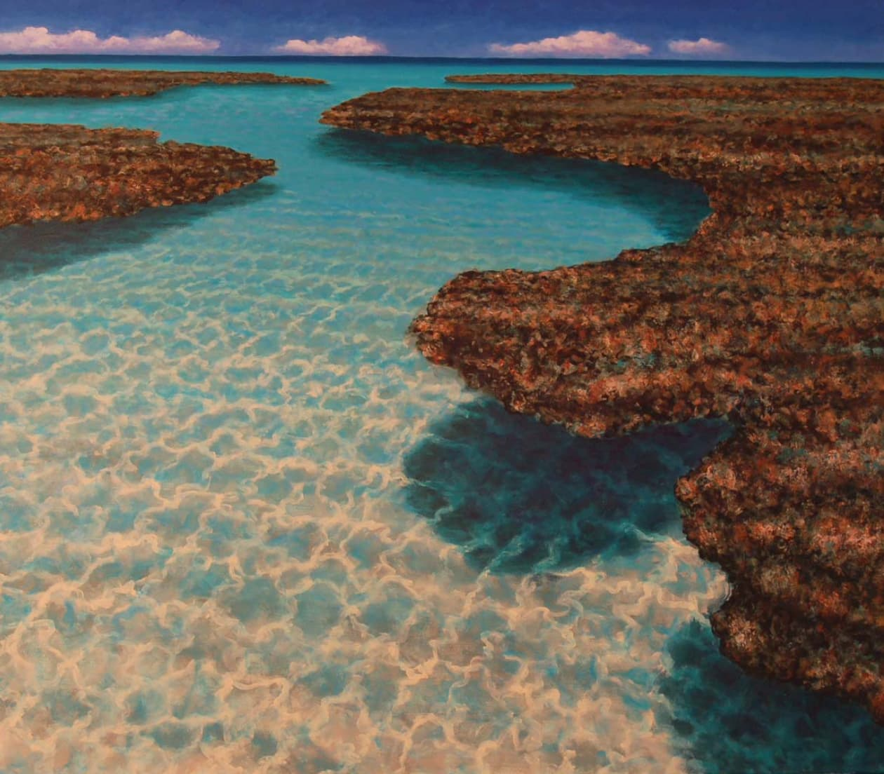 Coral Reef #8 (acrylic, 36x42), by Rick Bennett