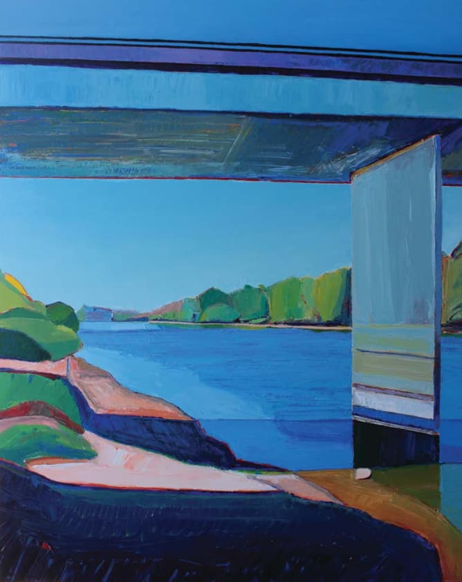 Timothy Mulligan The Rivercrossing (acrylic on canvas, 60x48)